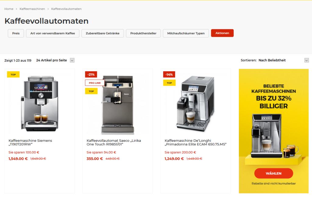 Kaffeekumpeln.de Auswahl