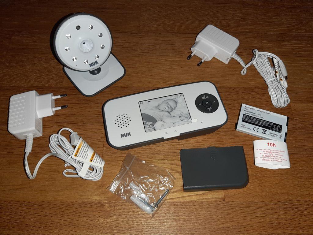 NUK Babyphone 550VD Inhalt