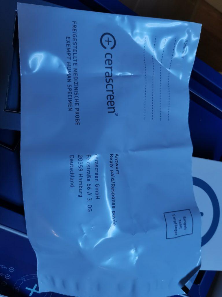 cerascreen Briefumschlag