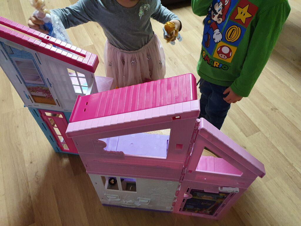 Barbie Malibu Haus Rückseite