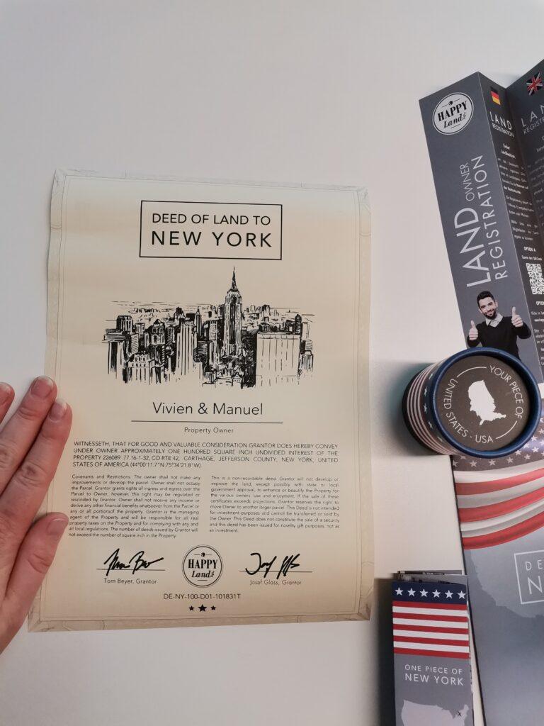 Land in New York