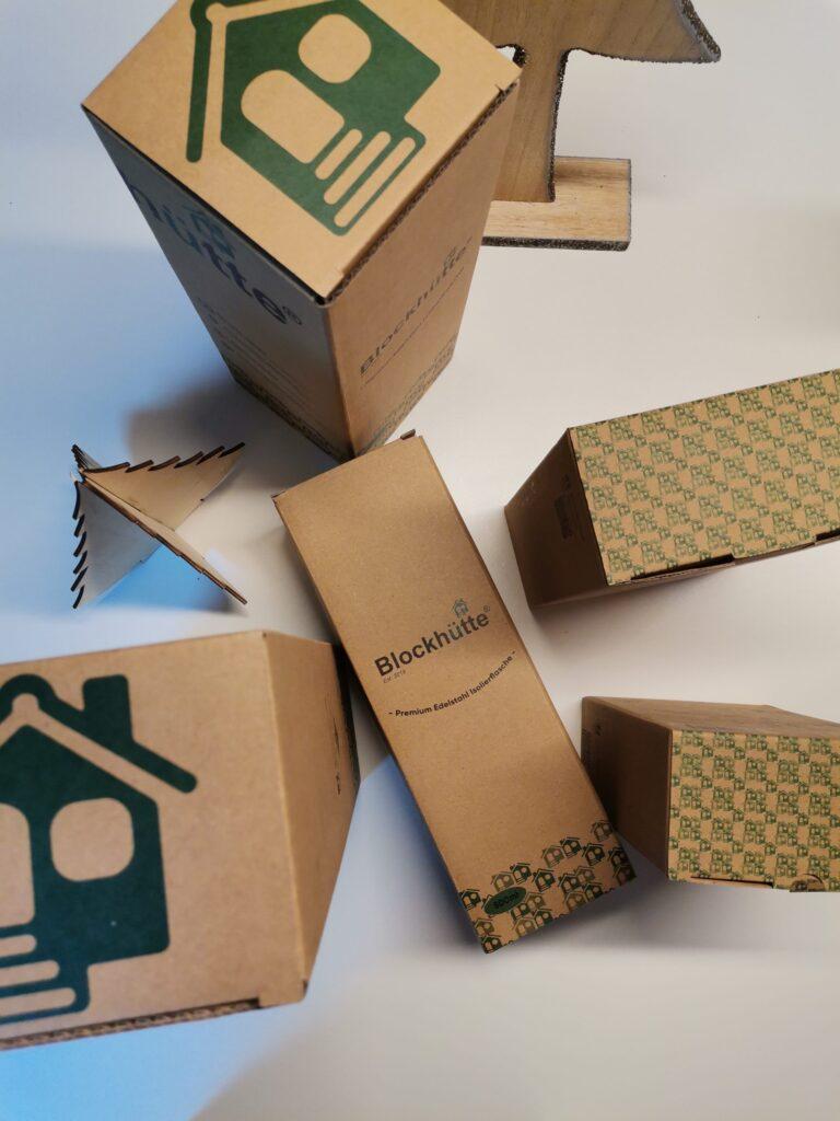 Blockhütte Verpackungen