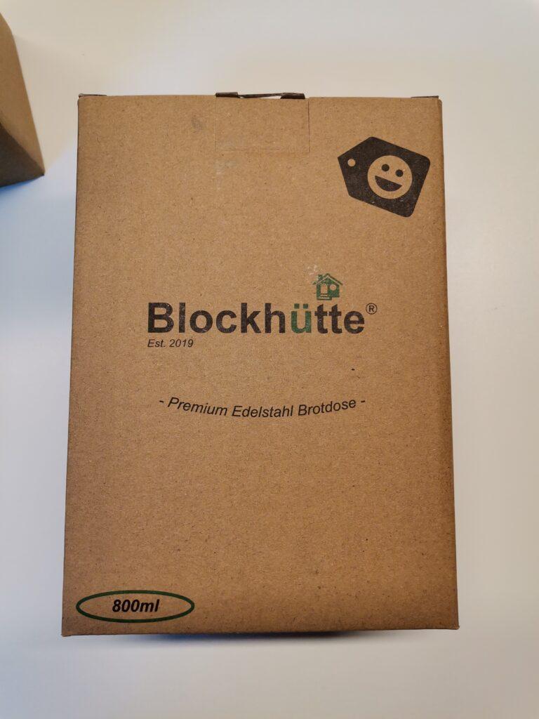 Blockhütte Brotdose Verpackung