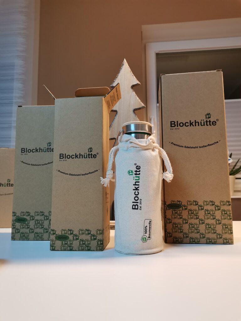 Blockhütte Trinkflasche 500 ml