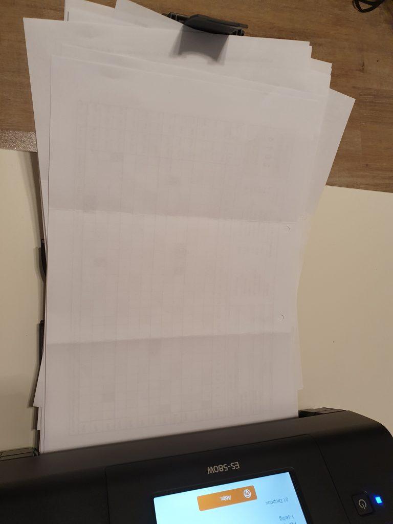 Epson ES-580W Dokumente scannen