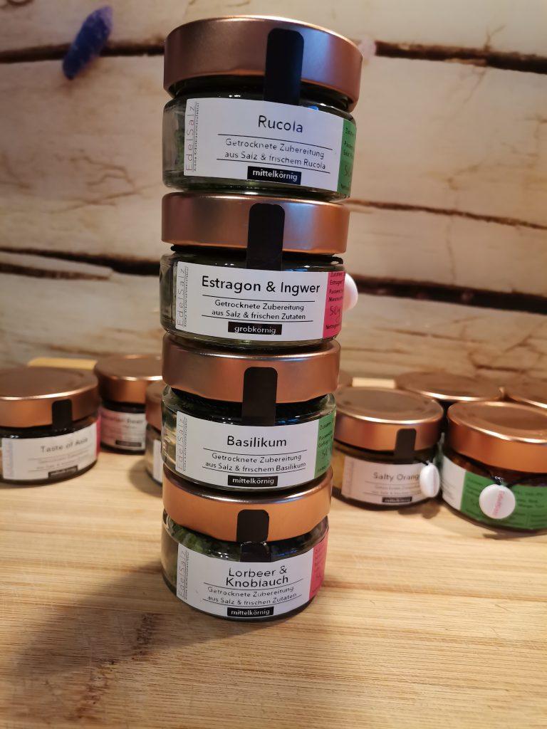 grüne aromatisierte Salze
