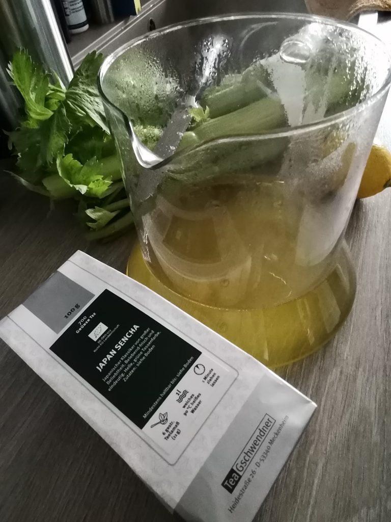 Grüner Tee für Eistee