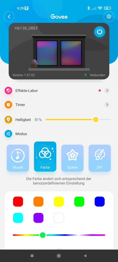 App Steuerung Metallbild