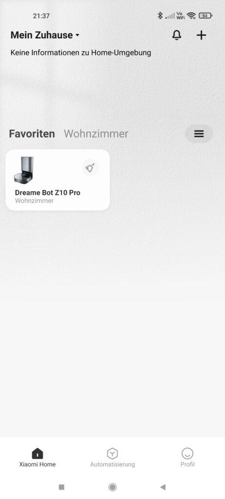 Dreame Z10 Pro Saugroboter mit Absaugstation